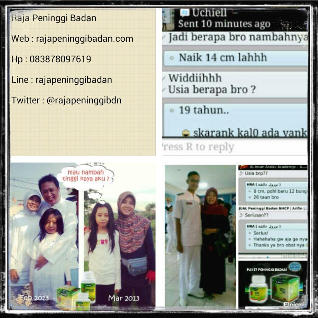 @IklanOnlineShop  Tambah tinggimu dgn #peninggibadan #nhcp harga murah se-Indonesia! CP:083878097619, BB:2305E43F https://t.co/5PJuf2zmRG