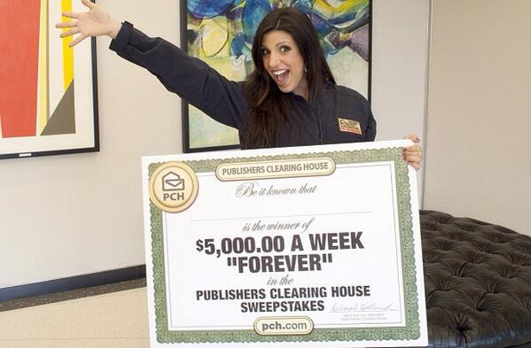 PCH Danielle Lam (@PCHDanielle): No ifs ands or buts about it @pchdotcom fans. We are awarding $5,000 A Week