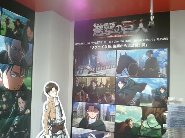 オイ・・・タワレコ渋谷店3F・・・これは・・・どういう状況だ? #進撃の巨人