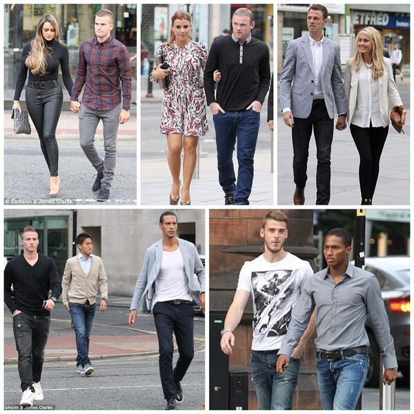 The boys out on team bonding session in Manchester [1/2] http://t.co/w18jiuLNz8