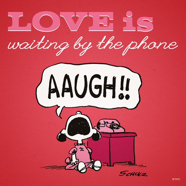 Love is waiting by the phone. http://t.co/KWbsgYOJzC