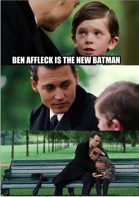 Ben Affleck announced as Batman. Does this open the door for a Matt Damon Robin? http://t.co/8mkgnzekde