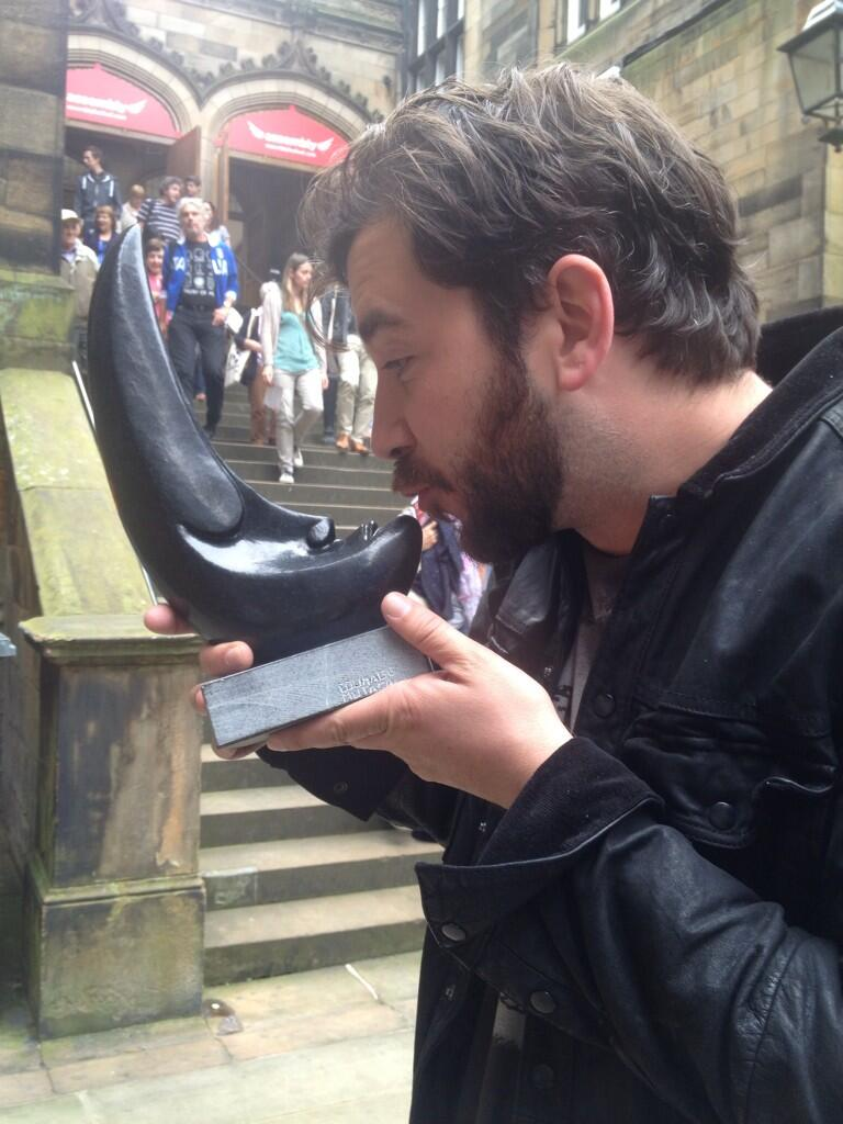 Look what we, the whole of #ststephens, won for #borderballad @TheScotsman Jack Tinker Spirit of the Fringe Award!!! http://t.co/hWjNOpaeqA