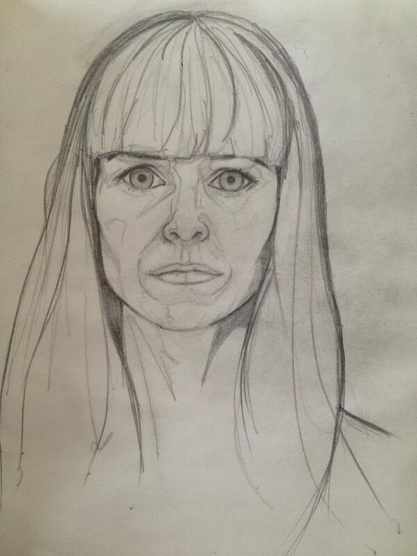 #DrawingAugust 22 (catching up) Self portrait - yikes :/ http://t.co/RWUB7zFnwN