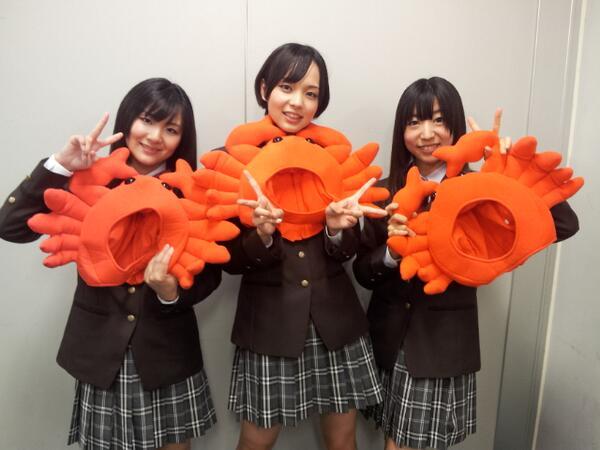 無事あいうらぶ「カニ☆Do-Luck!」皆さんに披露できました!会場が赤いサイリウムでいっぱいで感動しました!カニカニ言