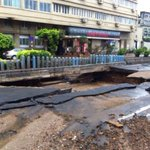 RT @PartyHarDrivers: ROAD COLLAPSES at Marine Drive . Please avoid .