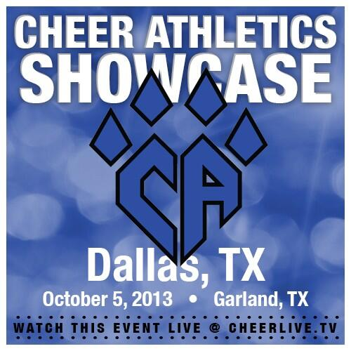 ✊ CHEER ATHLETICS SHOWCASE LIVE Oct 5th!! http://t.co/I91bMiIKY1