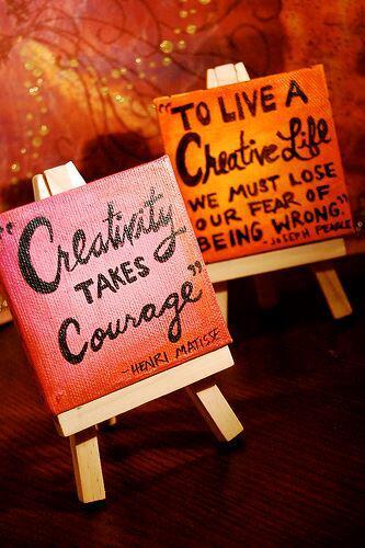 Creativity takes courage http://t.co/tXXyBey7B0