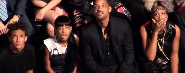 Yahoo News (@YahooNews): Miley Cyrus out-shocked Gaga at the VMAs: http://t.co/9tFsrXR3Z6 Will Smith's family wasn't feeling it http://t.co/oQrfXTemiy