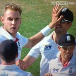 """@StuartBroad8: We were set for the perfect High 5, got distracted by a KP question!! http://t.co/jPXdaWcfKc"" - just missing a custard pie!"