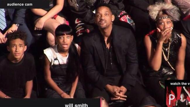 @SmoshIan: The Smith family's reaction to Miley's VMA performance. This has to become a meme.