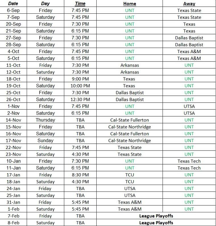 pic (@UNT_IceHockey) [FOLLOW] The official 2013-2014 game schedule