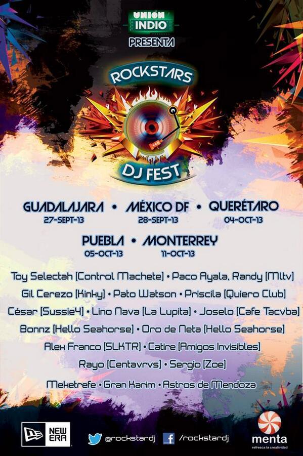 Ya checaron este festival? @RockstarDjFest http://t.co/1FIRtk3hKa