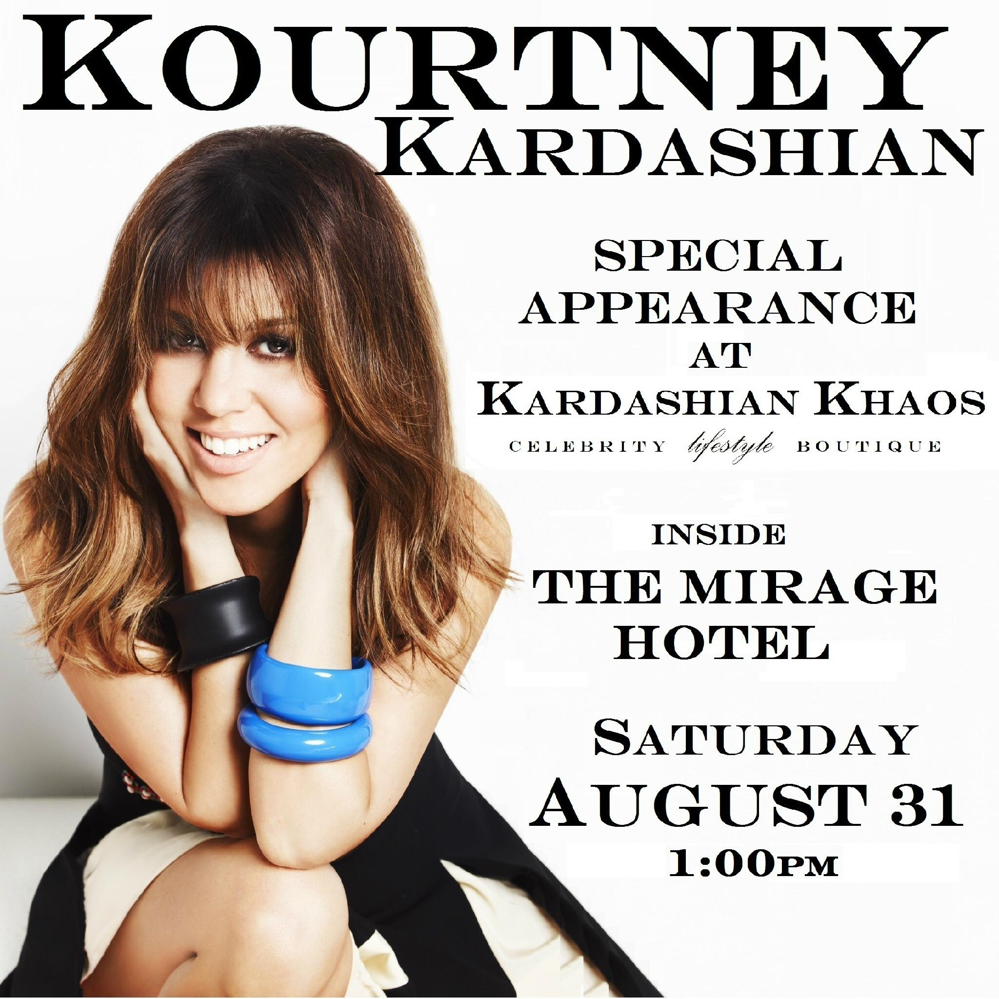 Go see my big sister Kourtney this Sat. at Kardashian Khaos in Vegas!!! http://t.co/v63QvhyXey