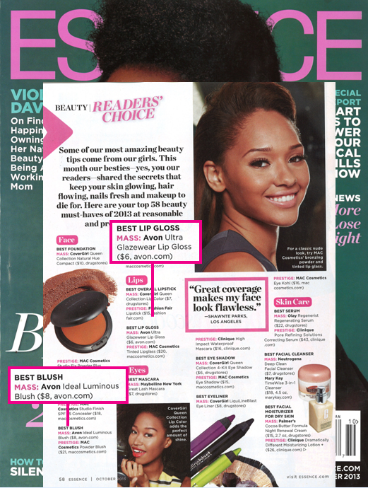 Breaking #Beauty News! #AvonMakeup won two @essencemag Readers' Choice Awards! http://t.co/mQwJhh1h87