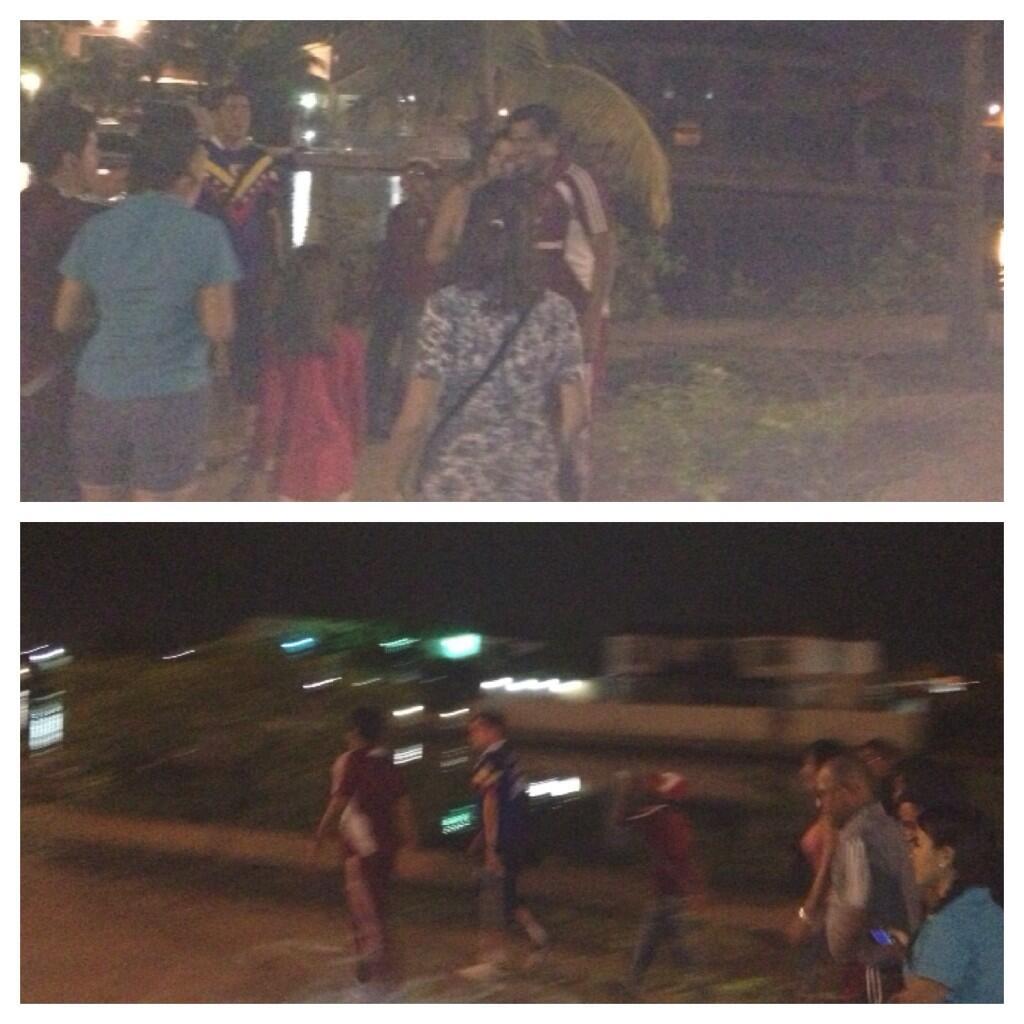 RT @hturinese: A unos 3kms. del estadio nos conseguimos caminando en la calle a C?sar Far?as. Decidi? irse a pie. http://t.co/lIGVwBkepM