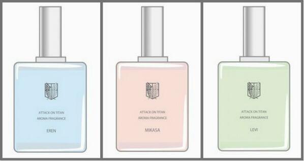 くんかくんか:リ、リヴァイ兵長の香りですと……!!!! 「進撃の巨人」の香水が登場 エレン、ミカサ、リヴァイの3種類 - ねとらぼ http://bit.ly/18bb83j @itm_nlabさんから