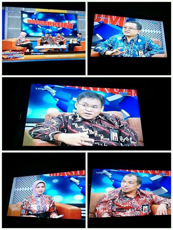 "Talkshow ""MASDARKUM"" dgn tema PP No 46 Th 2013 di TVRI Banjarmasin...  ^_^  @DitjenPajakRI @PajakMania @mekars http://t.co/xsCUAHFlSx"