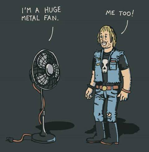 RT @MFRemillard: So hot today, time to get the fan back close to me  #MetalFan #Hot http://t.co/m9OVv24hQm