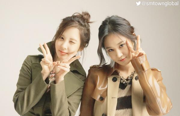 SeoHyun, Yuri at the photo shoot~! We're sending another photo to you :) http://t.co/pVmQloSpx2
