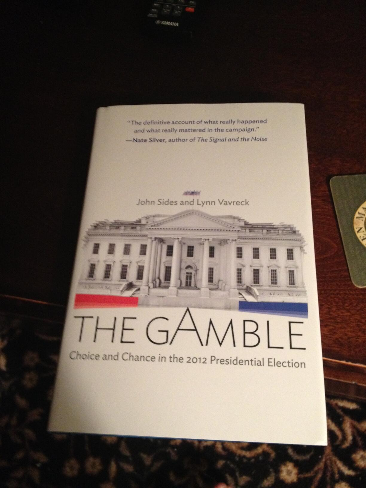 RT @_amengel: .@monkeycageblog and @vavreck's Gamble delivered today. Two weeks to finish it for class and their @VanderbiltU panel http://t.co/JhGKlZvnaF