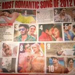 WOW !! RT @DTejuja: @Riteishd 's double whammy - the ONLY actor with 2 out of 10 of the most romantic songs of 2012 http://t.co/y4oH7TVURn