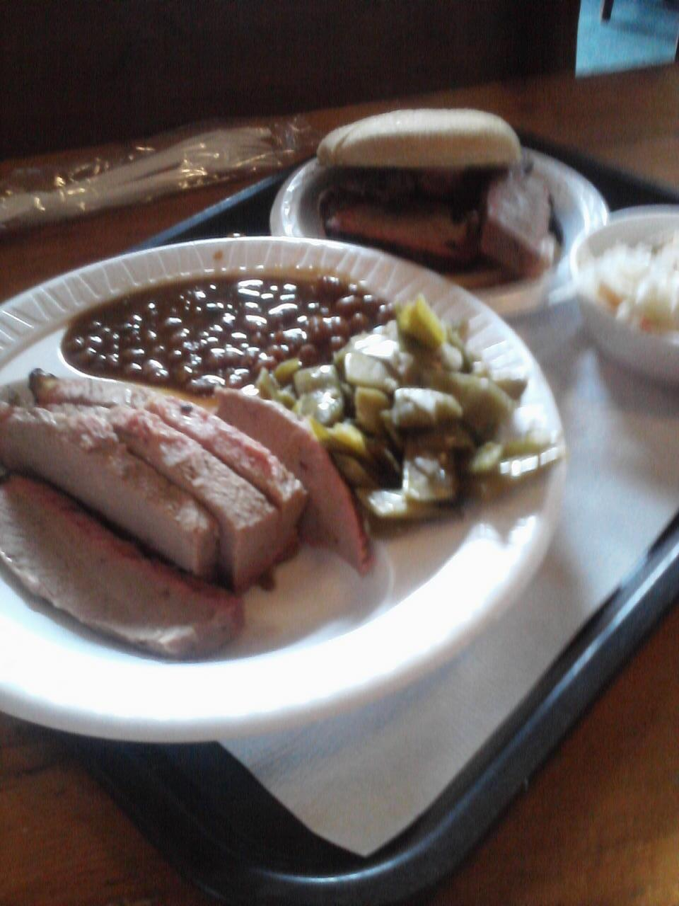 Texas beef brisket at @jacksbarbque in Nashville yesterday. Good stuff. http://t.co/PyF10exaIr