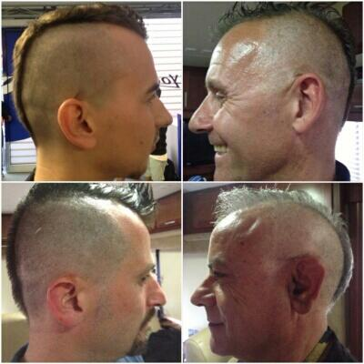 A great battle today and as we have had decided already on wednesday the Mohawk when we win! http://t.co/VONiOTJBwx