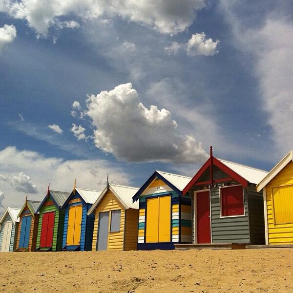 Great shot of the always #colorful Brighton Beach bath boxes in #Victoria by @jazzys_ocean! (Shared via IG) http://t.co/FCEoigSJkx