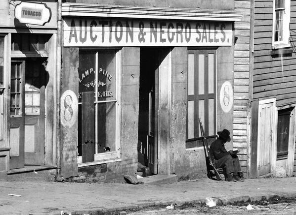 Slave Market 1864. Incomprehensible today isn't it? http://t.co/q0HBXm0QKX