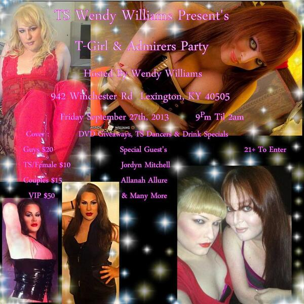 Sept 27th Tgirl and Admirers Party in Lexington, Ky is Sept 27th with