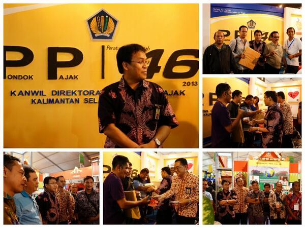 Seru-seruan bareng Kakanwil DJP Kalselteng di Pondok Pajak 46, Kalsel Expo  2013 @DitjenPajakRI @PajakMania @mekars http://t.co/R7JLwsGNq0