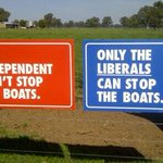 Mirabella put Boats sign up 252 KM from coast in #Indivotes Borderforce on da Yarra! #auspol http://t.co/oXMzciHIO5 https://t.co/YXprGhKMG3
