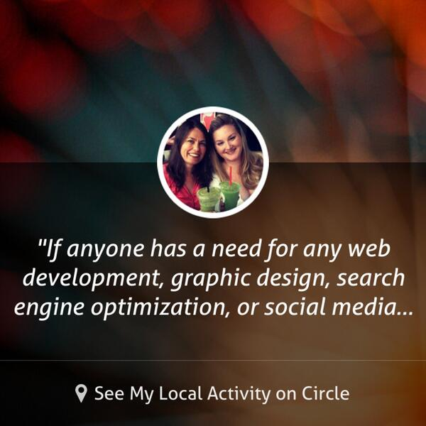 If anyone has a need for any web development, graphic design, search engine optimization, or... shared via @CircleApp http://t.co/YXenaneyA8