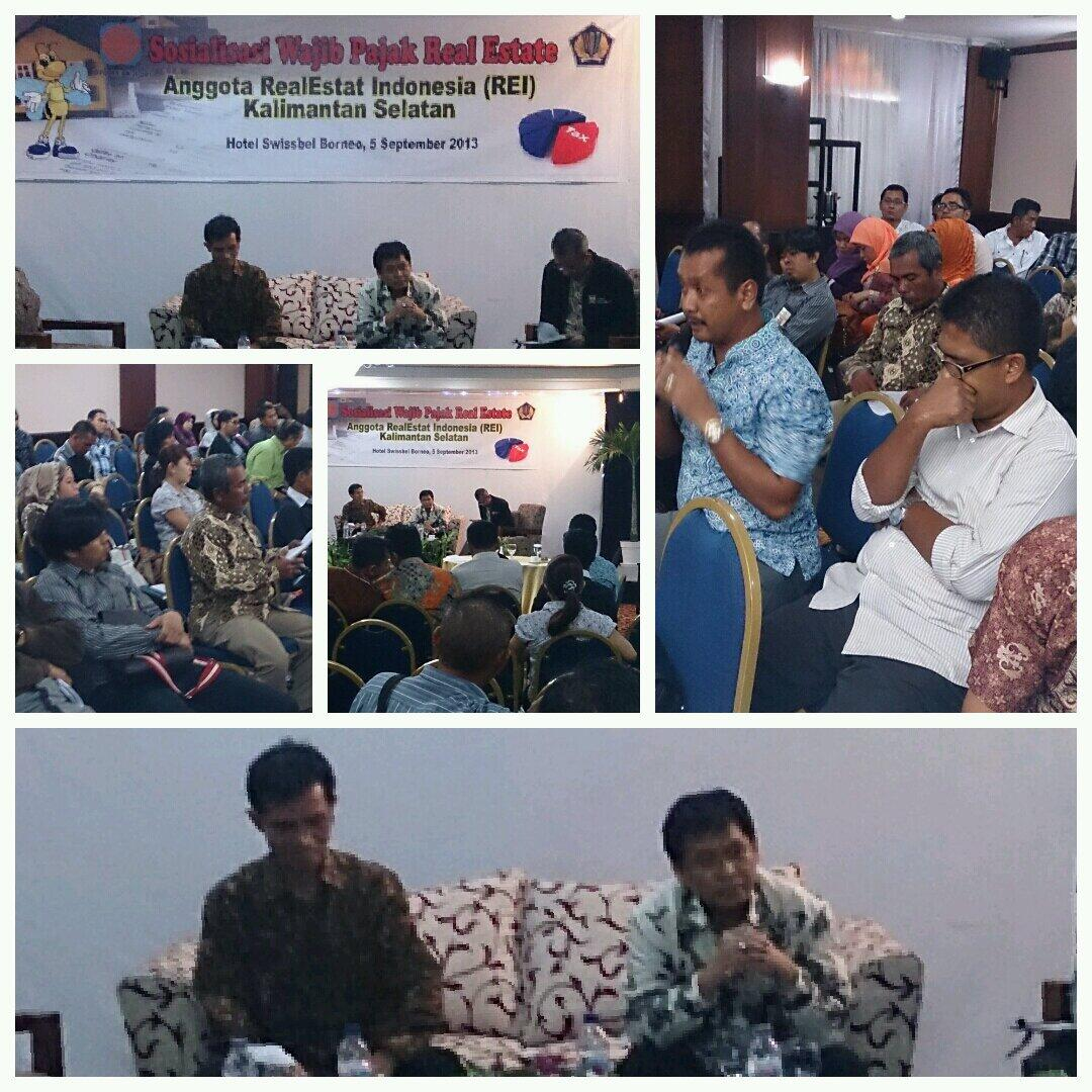 Sosialisasi anggota REI Kalimantan Selatan bersama Kakanwil DJP Kalselteng @DitjenPajakRI @PajakMania @mekars http://t.co/ViuqMENWtt