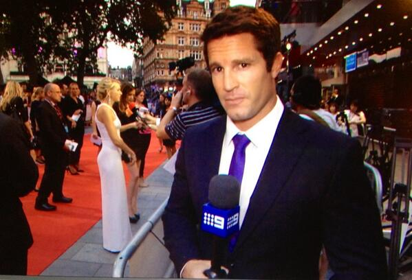 Denham Hitchcock (@DenhamHitchcock): The world premiere of Diana the movie. Naomi Watts in the role. Does she pull it off? Nine news all day http://t.co/1qOhg6iTEO