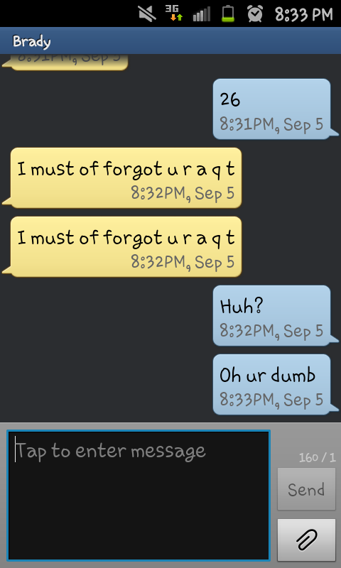 this is what happens when you try to text someone the  u0026quot 20 letters in the alphabet u0026quot  pick