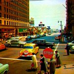 RT @BeschlossDC: Here a color photograph of Los Angeles Hollywood & Vine, 1950s. resembling photorealism:    #LAPL http://t.co/O4oxC5oipG