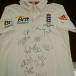 Final day to bid for my Ashes shirt. Highest bid £650 so far. Tweet your bids to me, all money goes to @Chance2Shine. http://t.co/VRDomdMw5t