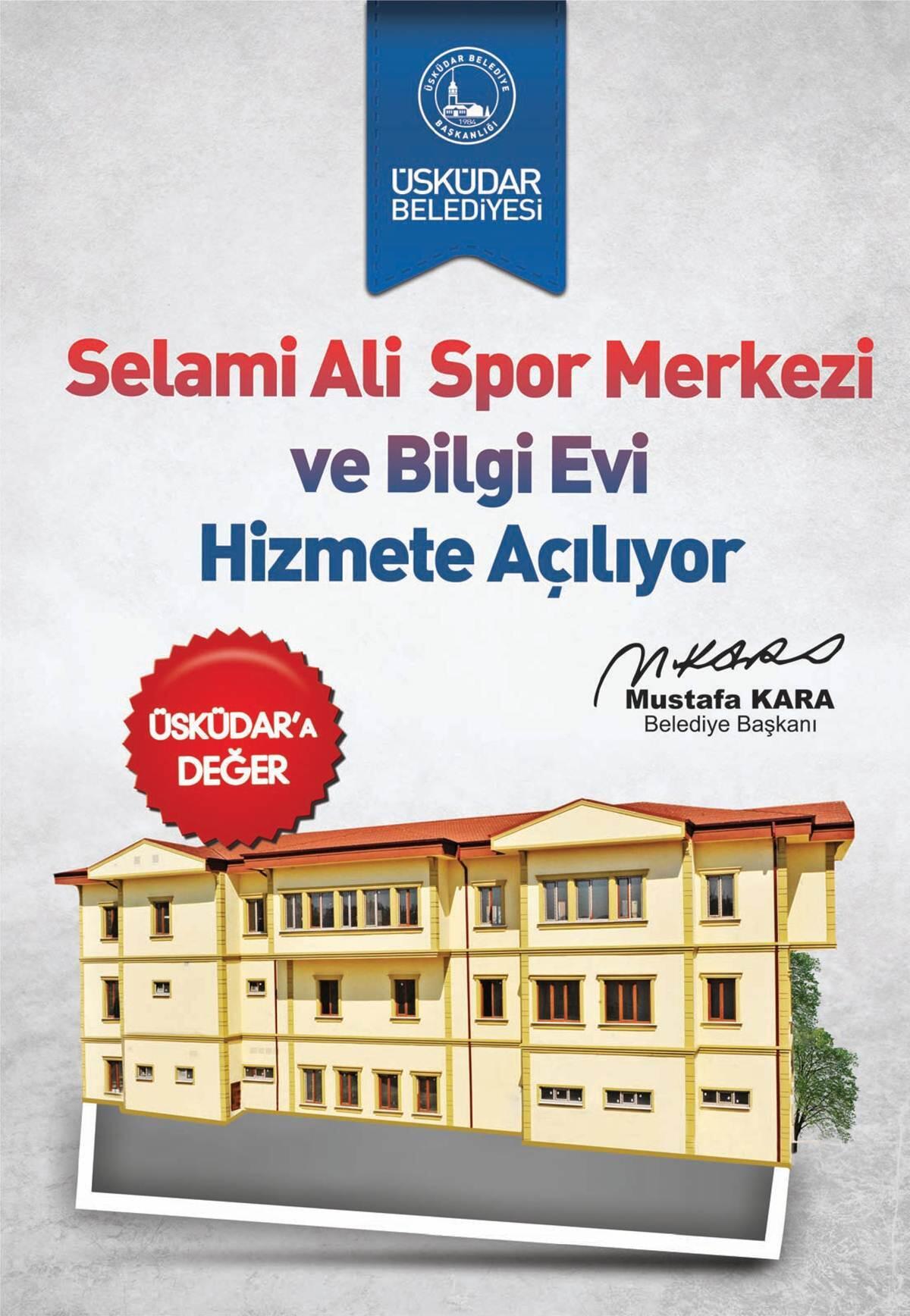 Selami Ali Spor Merkezi ve Bilgi Evi Hizmete Açılıyor... http://t.co/tlXSZ9L8sO