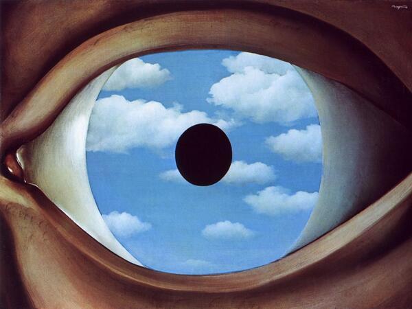 The False Mirror - Rene Magritte 1928 http://t.co/xzdk5fZyc6