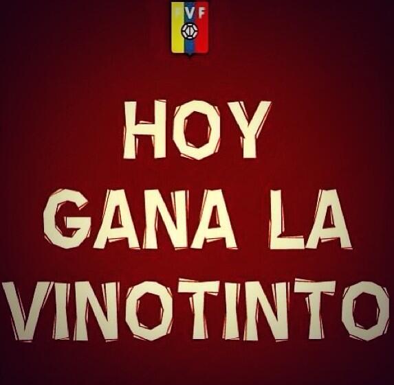 Hoy todos somos #Vinotinto ❤