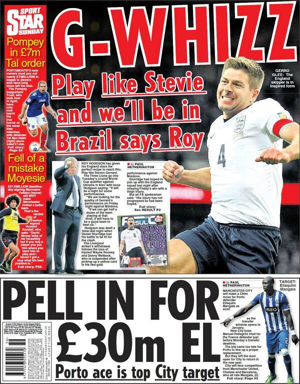 BTl1lEHCUAApcTX Man City to bid £30m for Porto centre half Eliaquim Mangala in January [Sunday Star]