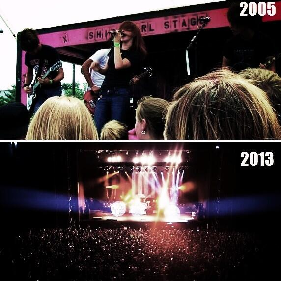 """""""As long as the three of us are on a stage playing for you, you can get through anything."""" #9yearsofparamore http://t.co/pdK5iwDLB5"""