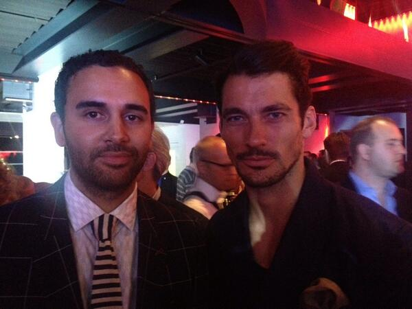 Look who we ran into. Car expert/ dude David Gandy also here with us bloggers @menswearstyle taken by @JamesJWYork http://t.co/r8UVRDRC1D