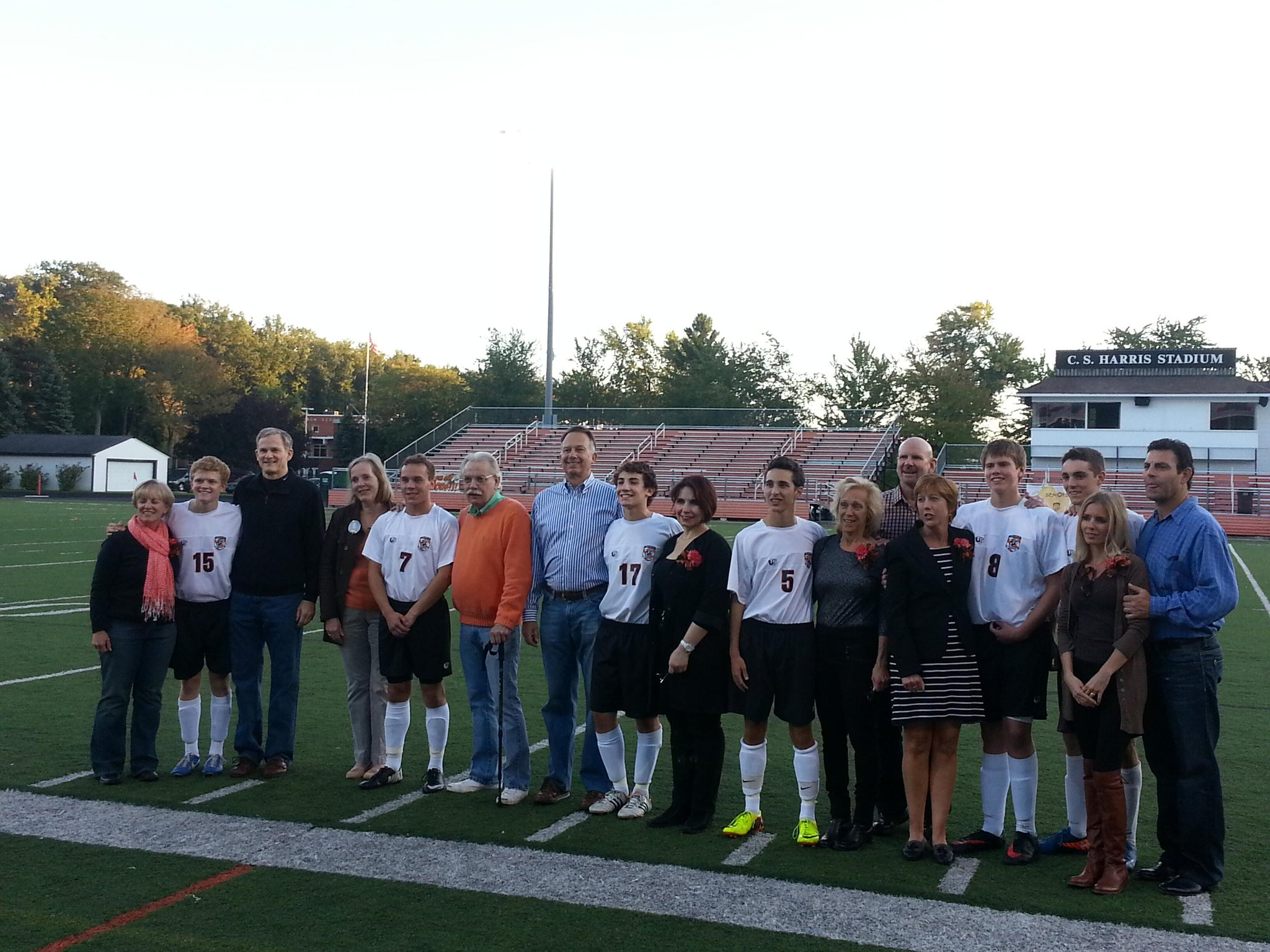 Congrats Boys Soccer seniors and their parents!  #GoTigers http://t.co/JYrvaCLbjT