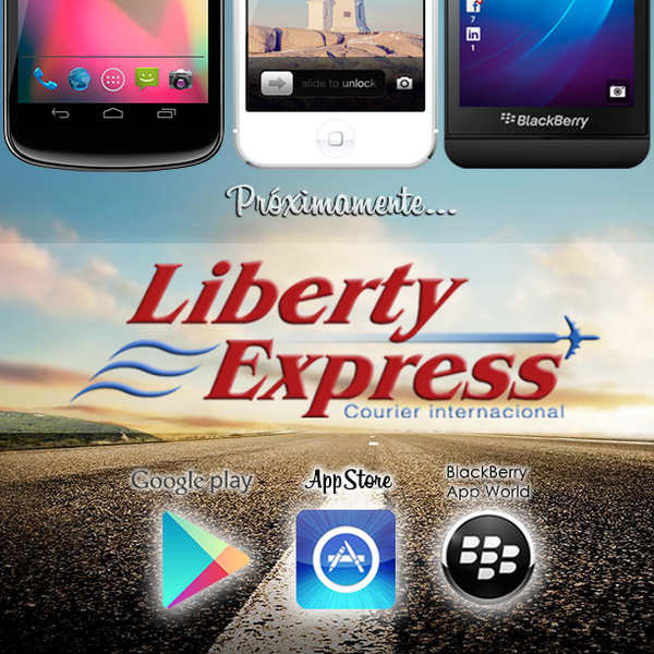 Liberty Express (@LibertyExpress): ¡Dale RT y haz que los demás también se enteren! Próximamente App Liberty Express para Android, Iphone y BlackBerry. http://t.co/GGraniQYtf