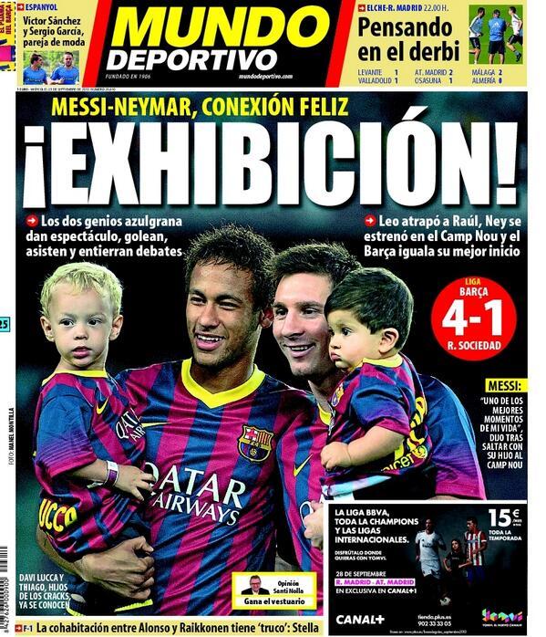 ¡Exhibición! #portada #deportes http://t.co/om05bgTbya