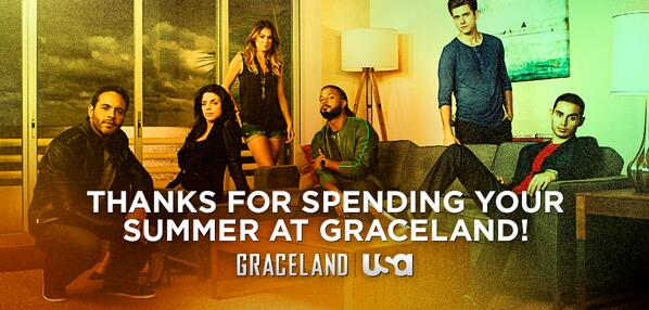 After all the twists, turns, & intense moments, thanks to everyone for watching #GracelandTV. http://t.co/P2sXGldHw7