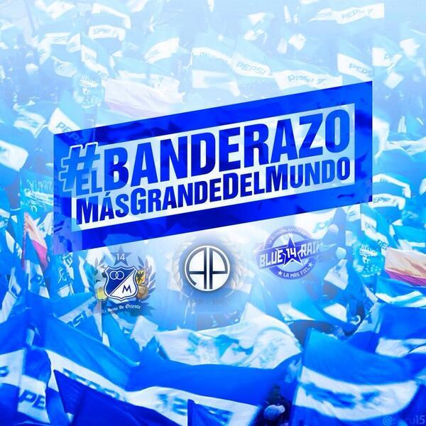 #ElBanderazoMásGrandeDelMundo En sur la fiesta la ponemos nosotros, en Occidental @BAPMillos en oriental @LBOriente http://t.co/KEJq4By7Bd